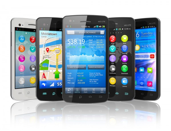 mobile phones with different apps