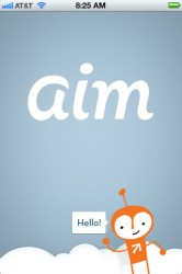 AIM start screen